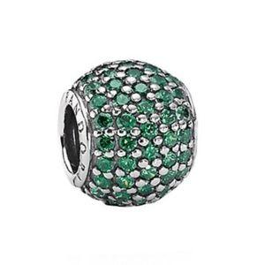 Pandora Authentic Dark Green Pave Lights Charm